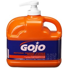 GoJo Orange Pumice 1/2 Gallon Pump Jugs 4 Units